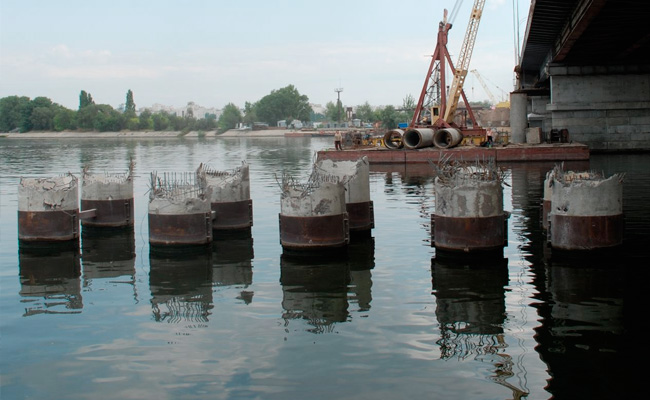 Чернавский мост Воронеж: демонтаж временного моста