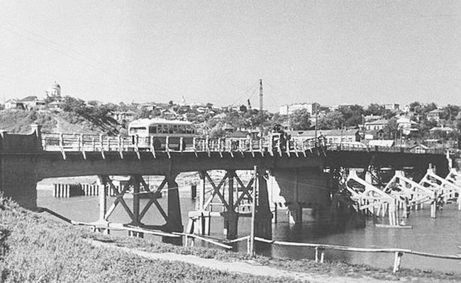 Чернавский мост Воронеж, довоенное фото