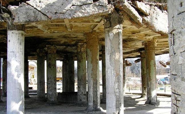 Ротонда Воронеж - руины памятника