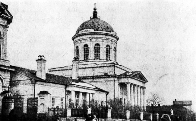 Покровская церковь в Воронеже, старое фото