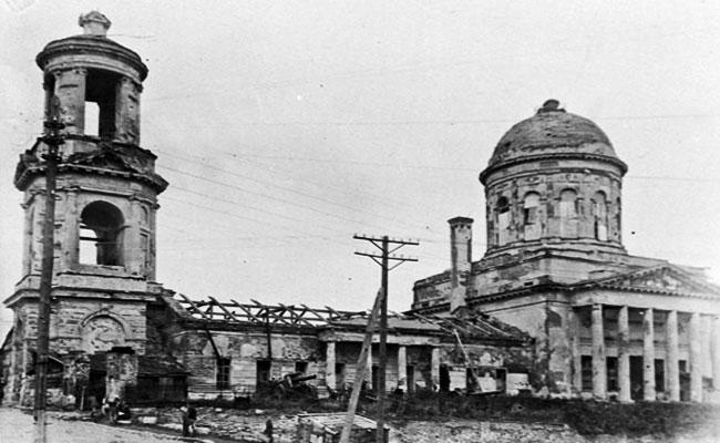 Покровский собор (Воронеж), ф0то 1943 г.