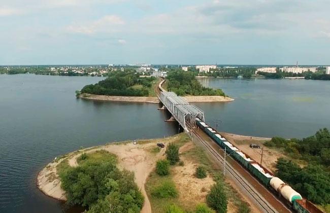 Отроженский остров и ж/д мост, г. Воронеж
