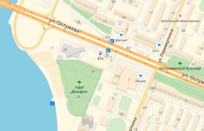 Парк Дельфин, карта