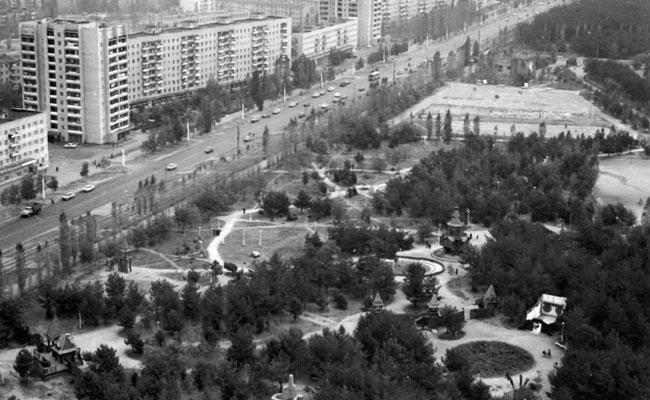 Парк Танаис: вид сверху