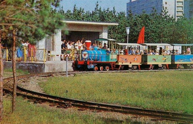 Парк Танаис: миниатюрная железная дорогоа