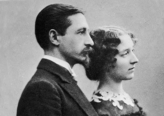 Бунин с женой, В.Муромцевой, 1933 г.