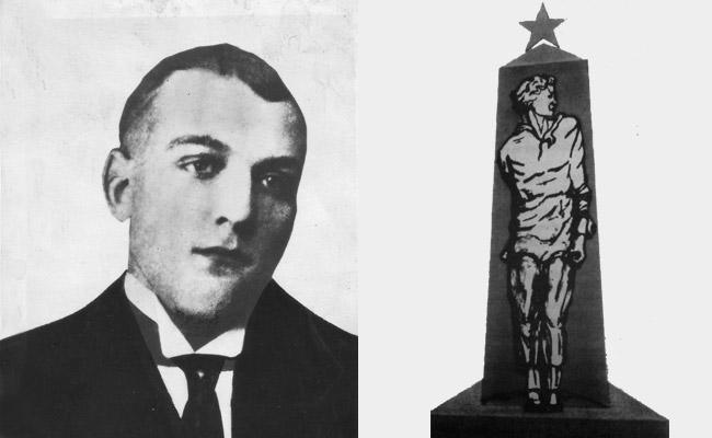 Шлегель Н.П. и эскиз первого памятника