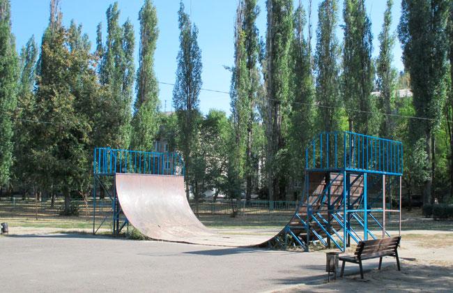Парк Южный (Воронеж): горки для скейтбордистов