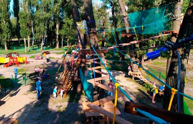 Веревочный парк в Южном парке