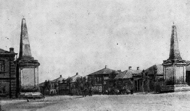 Площадь Застава в Воронеже, начало XX века