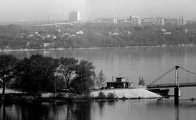 Придаченская дамба и подвесной мост, фото