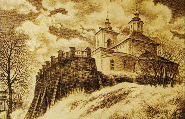 Воронежская Тихвино-Онуфриевская церковь, рисунок
