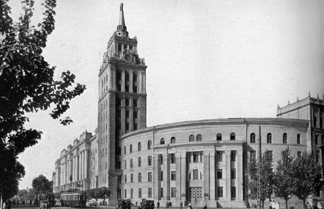 Здание Управления РЖД в Воронеже, фото 1960-е годы