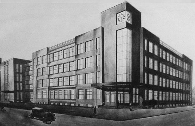 Перспектива здания ЮВЖД из проекта Троицкого