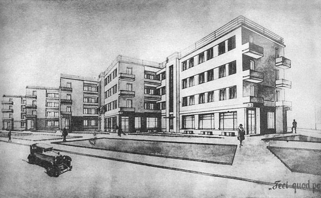Проект дома-гармошки по улице Карла Маркса