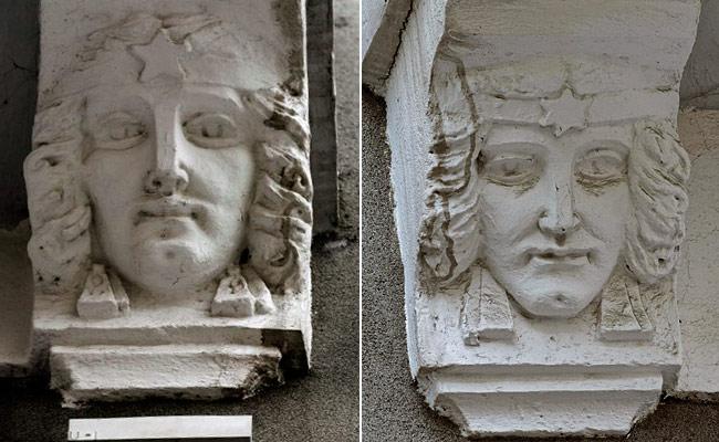 Декоративные элементы на фасаде Дома с совой в Воронеже
