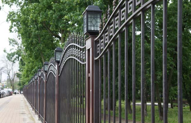 Бринкманский сад в Воронеже: ограда