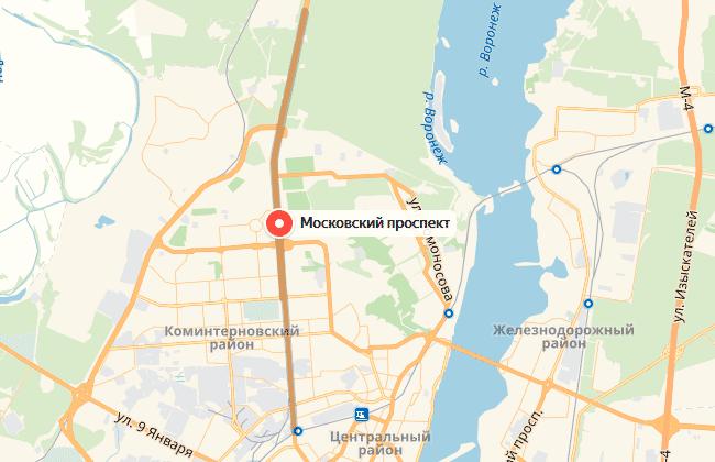 Улица Московский проспект, карта