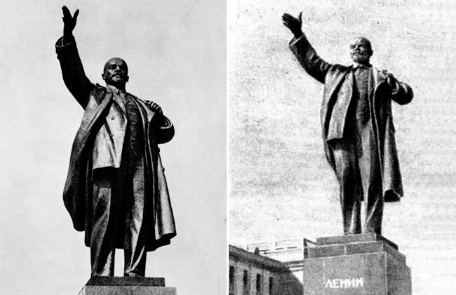 Новый памятник Ленину в Воронеже