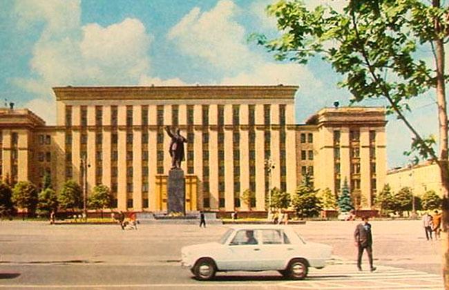Памятник Ленину (Воронеж), советская открытка