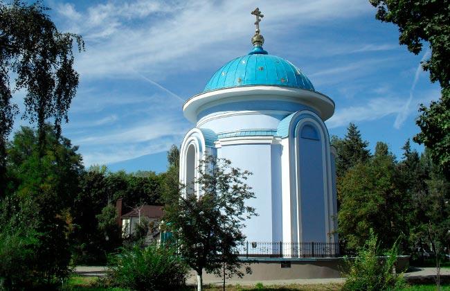 Часовня у памятника воинам-интернационалистам в Воронеже