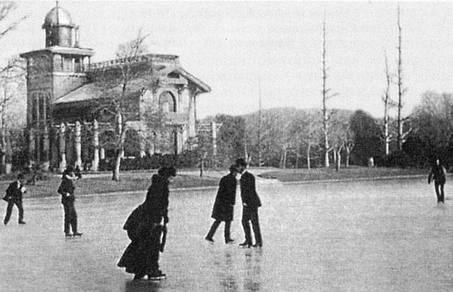 Каток в Первомайском саду, архивное фото