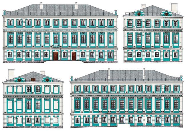 Здание Мещанской управы: фасады дома